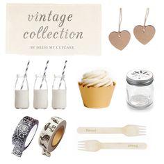 Vintage Party Inspiration #vintagewedding by Dress My Cupcake #rusticwedding #mason