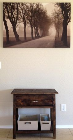 This is beautiful!  Pottery Barn Style Night Stand (thank you Ana)   Do It Yourself Home Projects from Ana White Did I mention the nightstand is solid wood for about $33 each?  Craziness!
