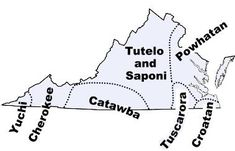 Map of Virginia tribes in the past.