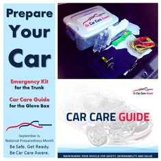September is National Preparedness Month! Make your you car is ready if disaster hits with simple #CarCare tips and a stocked emergency kit #GetReady #natlprep