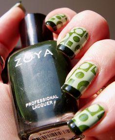 Zoya. Green/nail art.