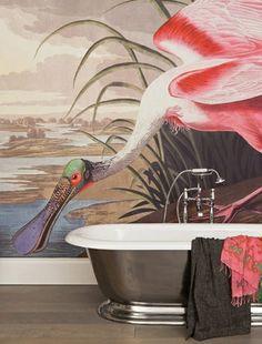wall art, color palettes, bathroom art, wall deco, wall murals, surfac view, breakfast at tiffanys, bathrooms, bathroom wallpaper