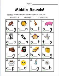 Short Vowel Sounds Worksheets on short vowel cut and paste worksheets