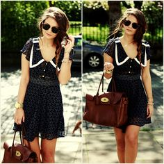 summer dresses, fashion, cloth, braid, bag, peter pan collars, outfit, the dress, sailor style