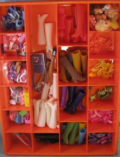 Vintage Barbie accessories--loved those white boots...