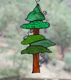 pine tree, tree sun, stain glass, stained glass