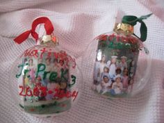 Personalized Class Christmas Ornament