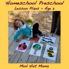 Homeschool Preschool Lesson Plans - for 3 year old