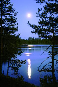 Moon lake by the lake.