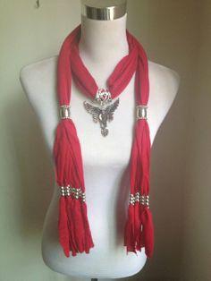 Amazon.com: Antique Silver Eagle Colorful Rhinestones Pendants Tassel Soft Jewelry Scarf Wrap Shawl Diy,100879 (Red): Baby