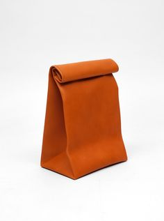 "All-leather ""lunch bag"" by the very cool Spanish design group Antiatoms. $172.00"