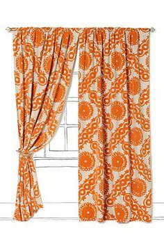 ANTHROPOLOGIE: Climbing Vines Curtain [Orange] $148.00