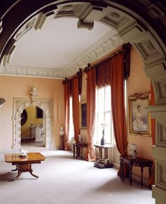 Admirers of John Fowler will recognise his touches in the Great Hall at Sudbury, Derbyshire, redecorated in 1969.