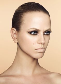 Beauty shoot by Max Oppenheim. Make-up by me