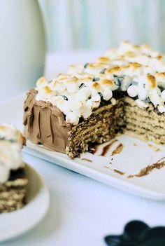Chocolate-Graham Cracker Refrigerator Cake