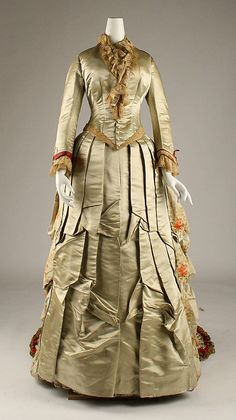 1875-6 Evening Dress Charles Frederick Worth