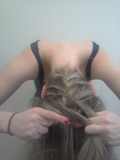 Tutorial: Upside Down French Braid Topknot - I really do like this upside down french braid style.