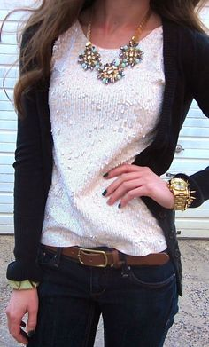 J Crew Silver Sequined Tank