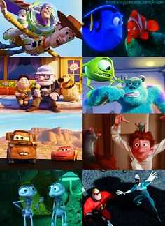PIXAR <3 love these movies.