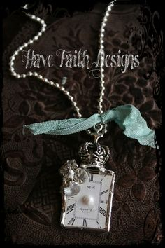 Crowned Timepiece necklace by HaveFaithDesigns on Etsy