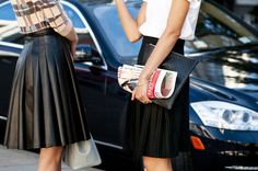 Leather and pencil skirts