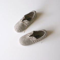 Lace Up Slippers - Unisex crochet slippers in Fawn on Etsy, $29.00