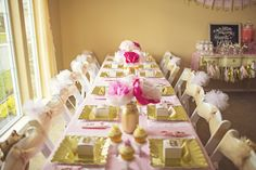 Pink and Gold Princess birthday party with Lots of Really Cute Ideas via Kara's Party Ideas! full of decorating ideas, desserts, cupcakes, cakes, favors, printables, games, and MORE! #princessparty #princess #littleprincess #partydecor #partyideas #partystyling #eventplannng (13)