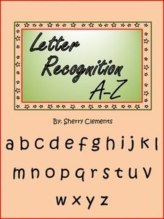 On Sale on TPT's one day Sale on 08-20-14. SAVE 28%. Use promo code BOOST at checkout. Letter Recognition A-Z  (16 pages) Circle/color letters that are the same as first letter and complete the word by writing the missing letter. $