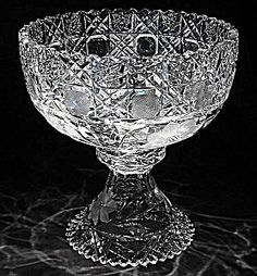 Cut Glass Punch bowl and stand