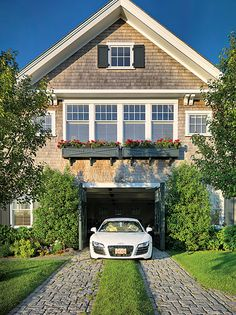 dream, carriag hous, driveways, architecture, ahearn architect, garage driveway, cape cod, carriage house, window boxes