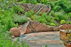 Something about this stone stacking appeals to me......Modern Landscape by Mariposa Gardening & Design, LLC