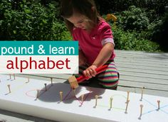 Pound & Learn Alphabet – Alphabet For Starters  - Pinned by @PediaStaff – Please Visit  ht.ly/63sNt for all our pediatric therapy pins