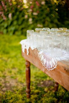 How cute for an outdoor celebration beverage center.