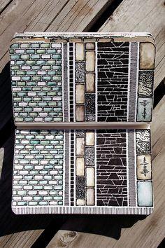 Rebecca Blair moleskine sketchbook #sketching #geometric #pattern #architectural