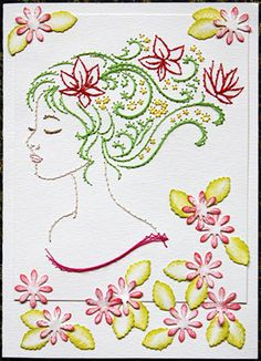 craft, beauti embroideri, art idea, colors, embroid paper, fairi, embroideri project, embroideri ring, embroidery on paper