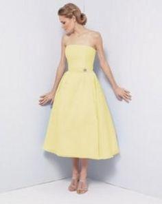 pink and yellow bridesmaid dress
