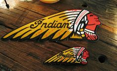 Vintage Large and small Indian motorcycle patch set get it at  IronCrowVintage SOLD!