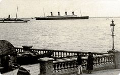 April 8, 1912: The #Titanic just left Southampton, sailing in front of Isle of Wight