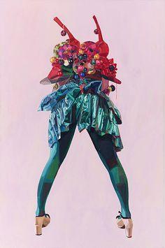 Blue Dress - Painting by Celeste Rapone
