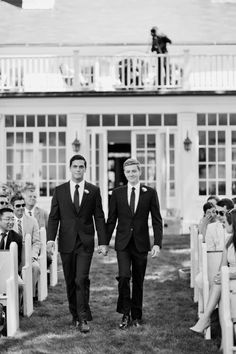 Inspiration: Beautiful black & white wedding photo. #Gay #Wedding #GayWedding #LGBT #SameLove
