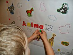 DIY giant magnet puzzles for kids from And Next Comes L