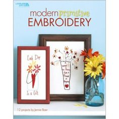Leisure Arts - Modern Primitive Embroidery, $9.95 (http://www.leisurearts.com/products/modern-primitive-embroidery.html)