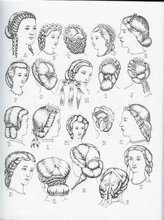 1861 - 63 - coiffures Victoria et Elizabeth