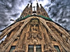La Sagrada Familia - Barcelona, Spain. One of the most beautiful structures I have seen!!!