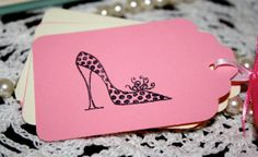 Bridal Shower High Heel Shoe Gift Tags  Birthday by Booksonblocks, $3.95