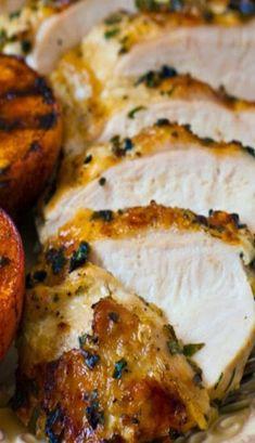 Grilled Basil Garlic Chicken Breasts