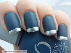 Matte blue nails..I like!