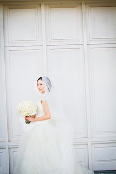 Lace @verawanggang #weddingdress   Michelle VanTine Photography   Brides.com