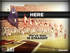 Here we've won 18 straight home games at Williams-Brice.