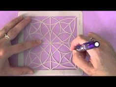 video tutorial explaining how to create original cards with a card making stencil